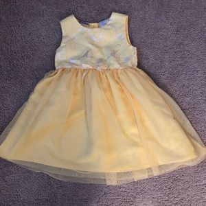 Girls Toddler Two Piece Dress (Canary Yellow)